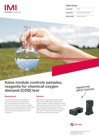 Valve Block/Water Analyzer case study