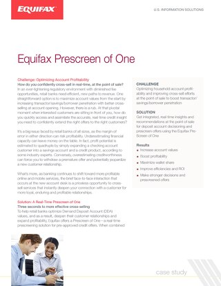 Case Study: Equifax Prescreen of One