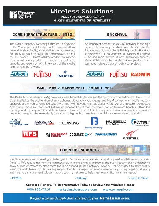 Power & Tel Wireless Brochure 2016