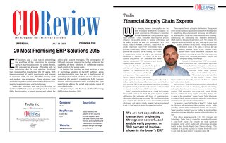20 Most Promising ERP Solutions 2015: Taulia