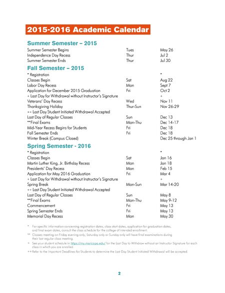 calendar for college students