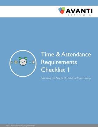 Time & Attendance Requirements Checklist