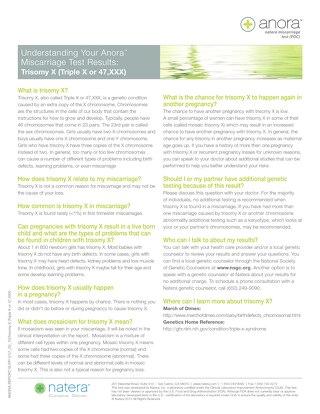 Trisomy X: Anora Report Supplement