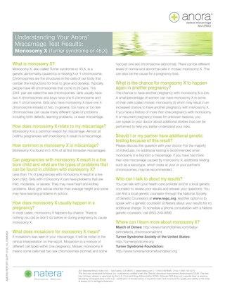 Monosomy X: Anora Report Supplement