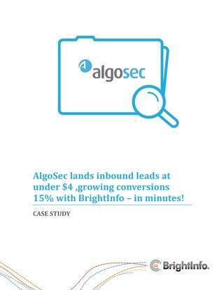 BrightInfo: AlgoSec Case Study