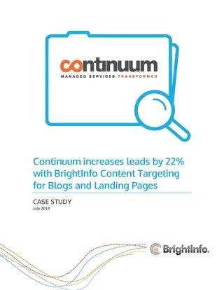 BrightInfo: Continuum Case Study