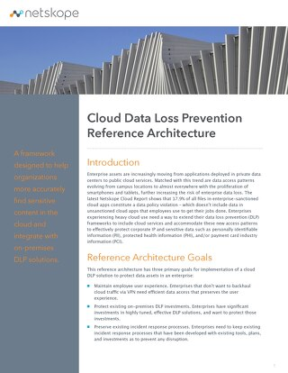 Cloud Data Loss Prevention Reference Architecture