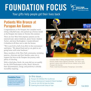 West Park Foundation Fall Newsletter 2015