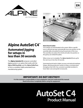 AutoSet C4 Product Manual