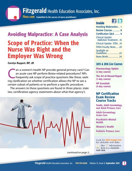 Fitzgerald Health Education Associates - September 2015