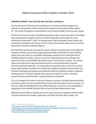 IAQA GOVERNMENT AFFAIRS UPDATE 9-17-15 FINAL DRAFT