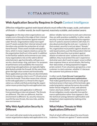 Whitepaper: Web App Security Requires Context Intelligence