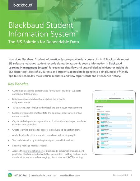 Student information system features blackbaud k 12 sis software contents of this issue fandeluxe Choice Image