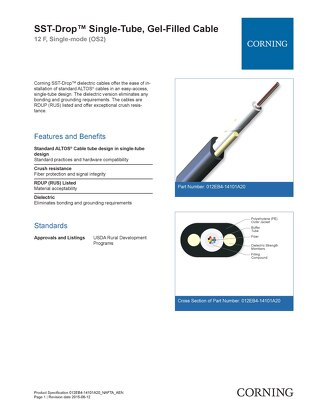 Corning SST Drop Single Fiber Gel Filled Cable