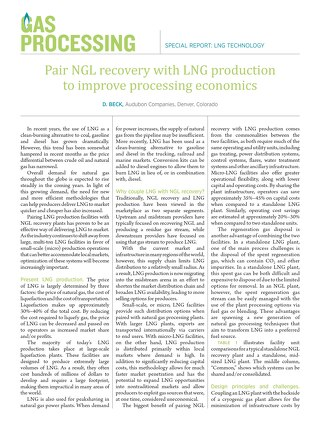 Pair NGL Recovery with LNG Production to Improve Processing Economics