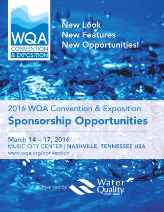 WQA Convention & Exposition 2016 Sponsorship Brochure