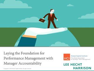 Laying The Foundations For Performance Management with Manager Accountability