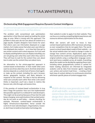 Whitepaper: Orchestrating Web Engagement Requires Context Intelligence
