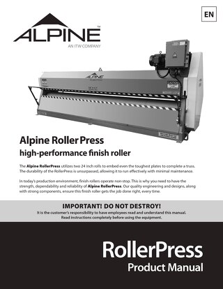 RollerPress Product Manual