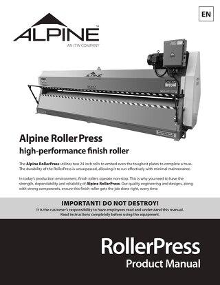 RollerPress Product Manual