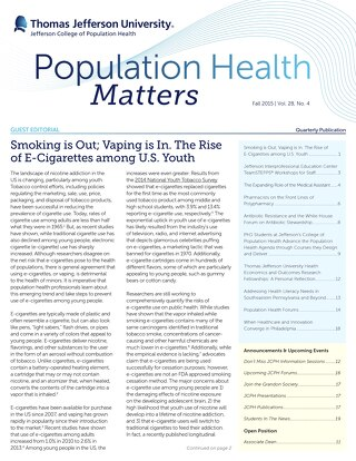 Population Health Matters Fall 2015  Vol. 28 No. 4