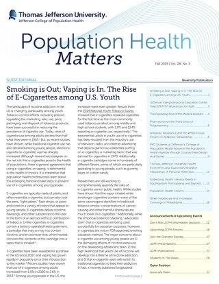 Population Health Matters Fall 2015  Vol. 28 No. 4