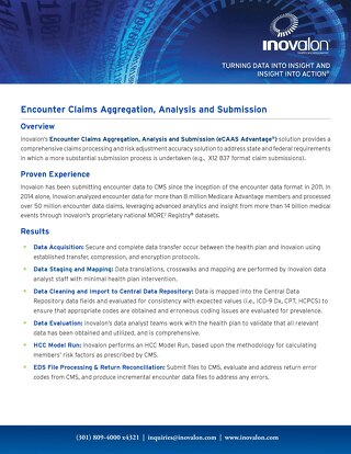 Encounter Claims Aggregation, Analysis and Submission