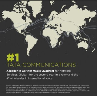 Tata Communications: Leader in Gartner Magic Quadrant for Network Services, Global