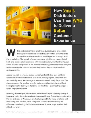 How Smart Distributors Use Their WMS to Deliver a Better Customer Experience