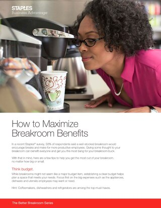 How to unleash maximum breakroom benefits