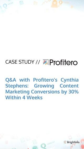 Profitero Case Study