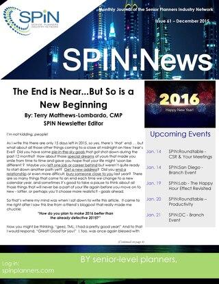 December  2015 SPiN News