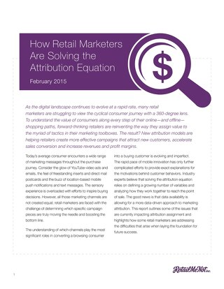 How Retail Marketers are Solving the Attribution Equation