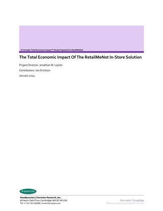 Total Economic Impact of RetailMeNot In-Store Solution