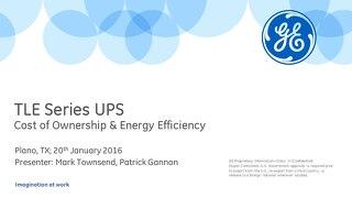 TLE Series UPS: Cost of Ownership & Energy Efficiency