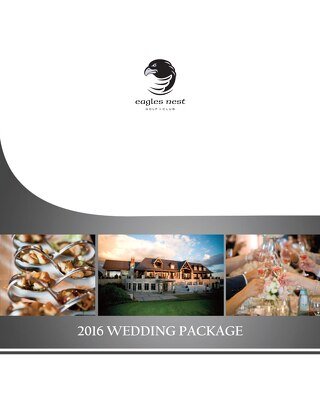 2016 Wedding Package