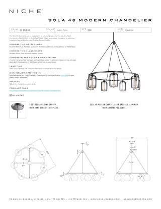 Sola 48 Chandelier - Tear Sheet