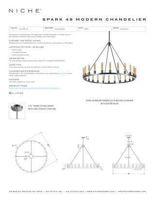 Spark 48 Chandelier - Tear Sheet