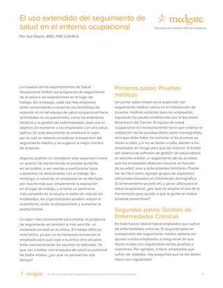 El uso extendido del seguimiento de salud en el entorno ocupacional