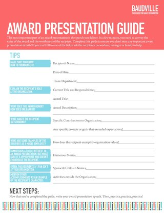 Award Presentation Guide