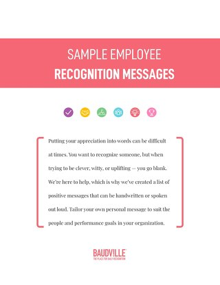 Sample Employee Recognition Messages for Every Recognition Occassion