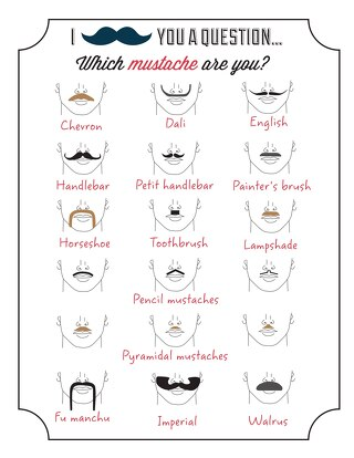 Movember Mustache Styles