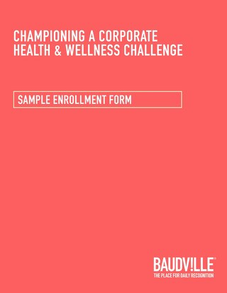 Health & Wellness Challenge: Sample Enrollment Form