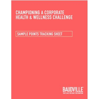 Health & Wellness Challenge: Sample Guidelines