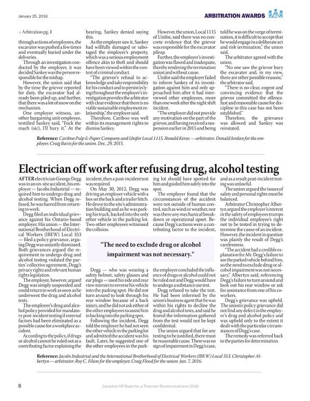 Canadian Labour Reporter January 25 2016