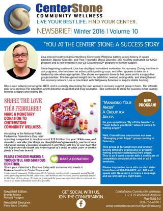 Centerstone Community Wellness February 2016 NewsBrief