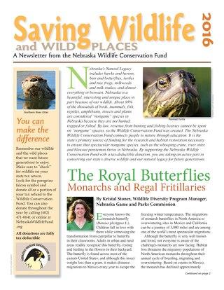Saving Wildlife and Wild Places 2016