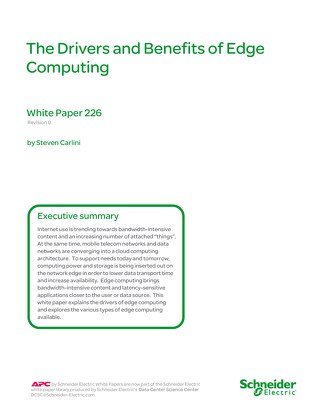 WP 226 - The Drivers and Benefits of Edge Computing