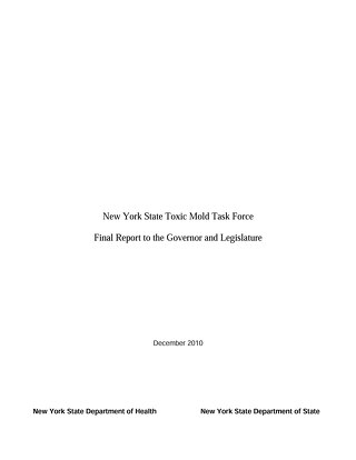 NYS Toxic Mold Task Force Report 2010