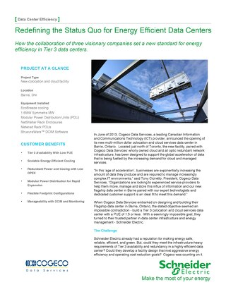 [Case Study] Cogeco - Redefining the status quo for energy efficient data centers